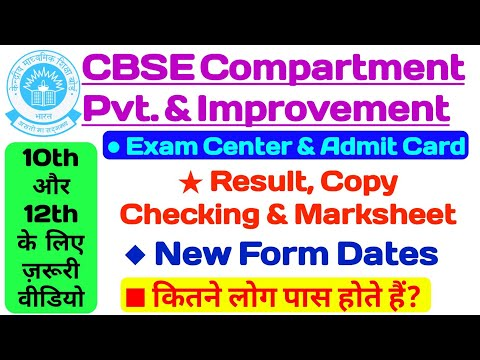 CBSE Compartment 2020   CBSE Improvement Exam   CBSE Private Form   CBSE Latest News   CBSE Result  