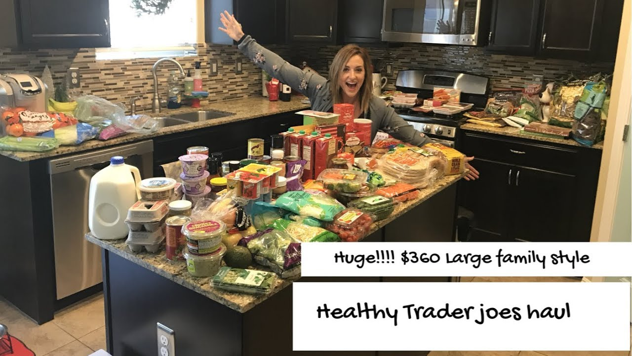 HUGE TRADER JOES GROCERY HAUL + 9 DINNER MEAL IDEAS| LARGE FAMILY STYLE - YouTube