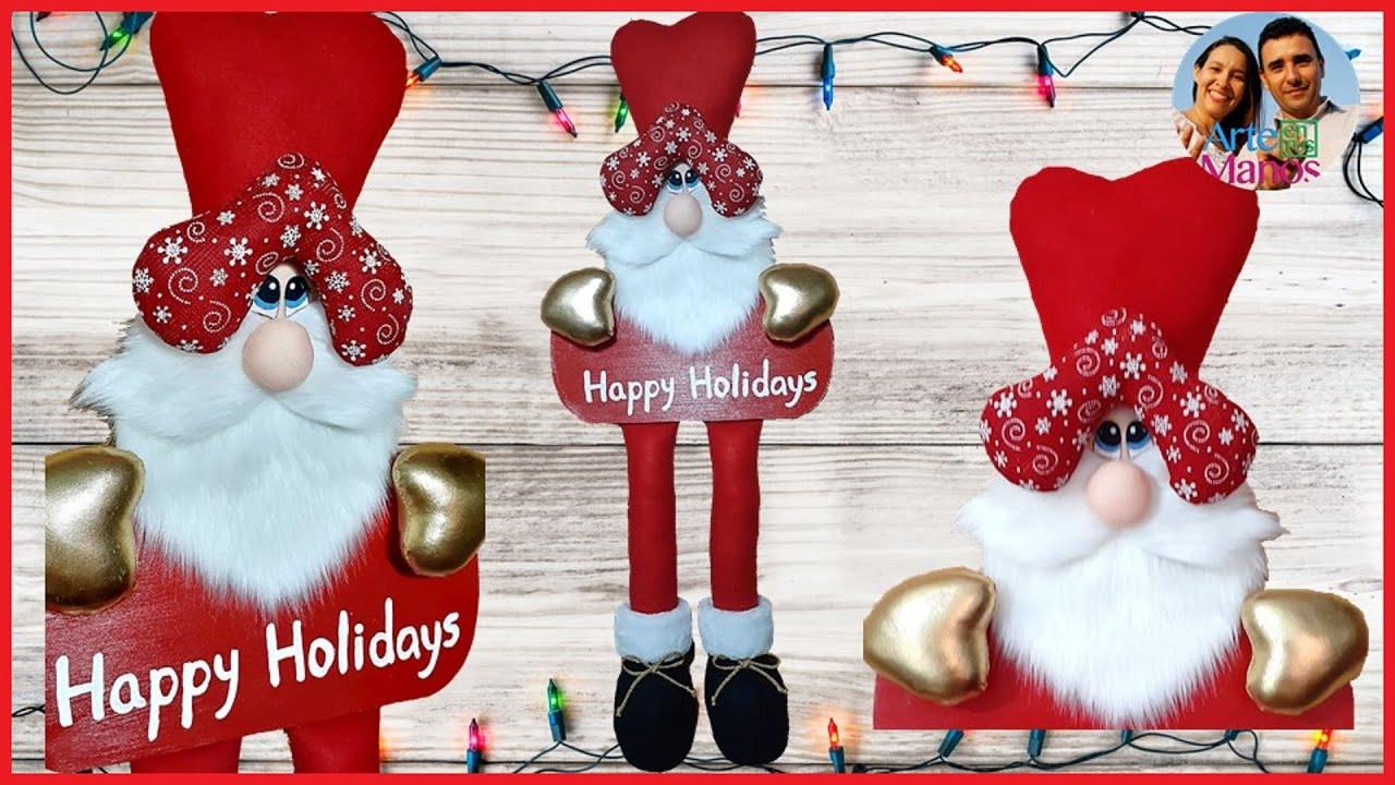 🎅Cómo Hacer un Pendón Navideño con Santa Claus🎅