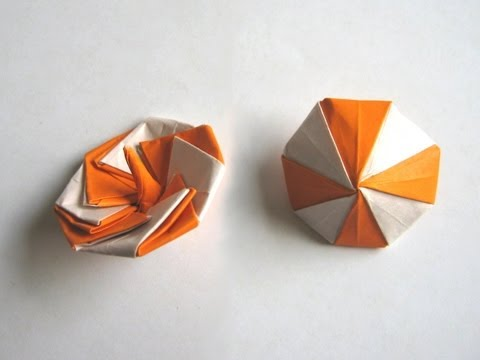 Origami Spinning Top By Manpei Arai Part 1 Of 2 Youtube