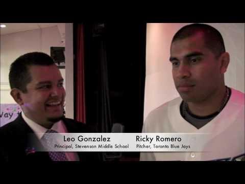 Ricky Romero visits Stevenson Middle School
