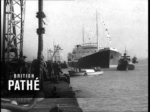 Arrival Of First Tanker To Kent Refinery (1952)