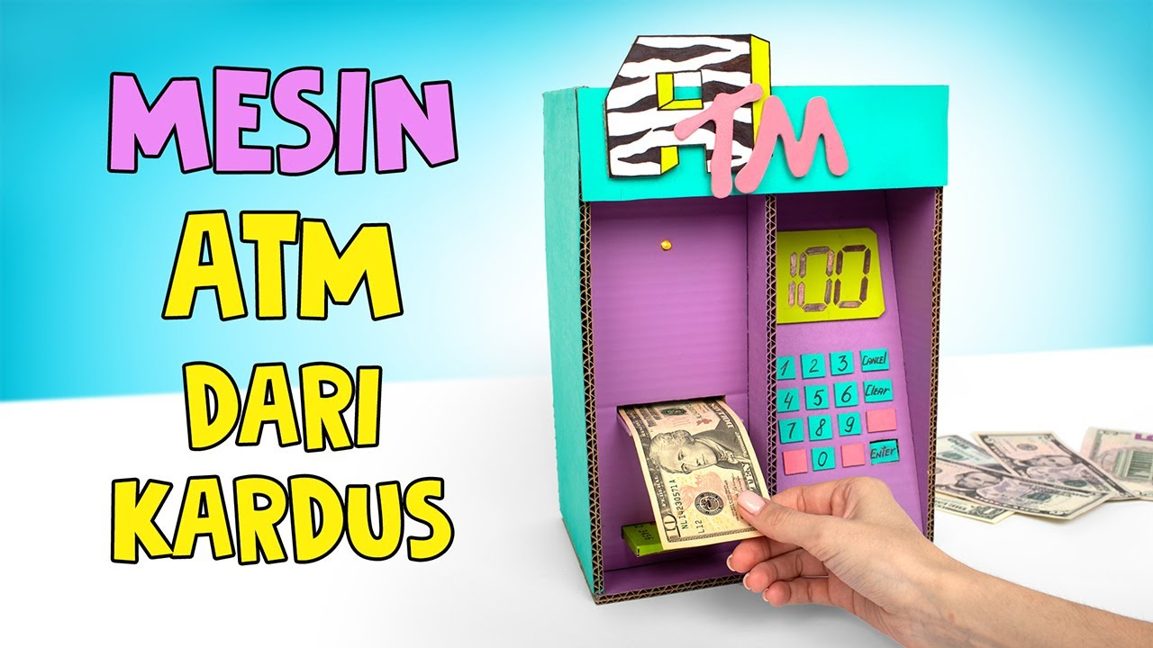 18 Cara Membuat Mesin ATM Keren dari Kardus