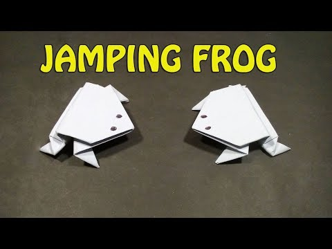 Origami jumping frog | How to make a paper frog that jumps high and far