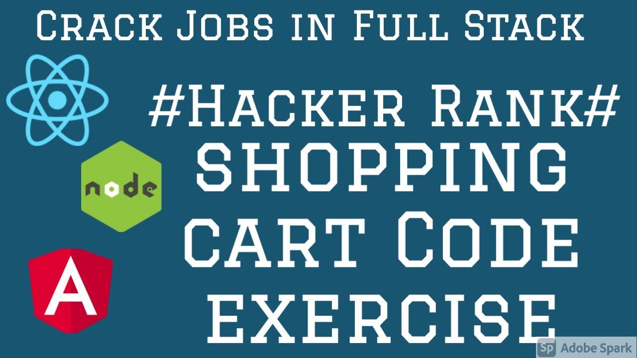 React Shopping cart App HackerRank Test #05