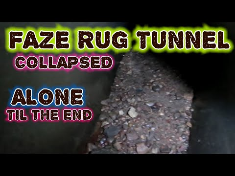 FOUND THE END OF FAZE RUG TUNNEL I DID IT ALONE