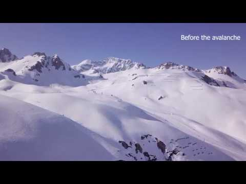 I caught a big avalanche with my drone! Tignes (FRANCE)