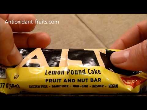 Larabar ALT Lemon Pound Cake Vegan Energy Bar Review Antioxidant-fruits