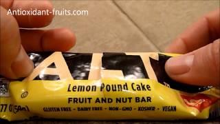 Larabar Alt Lemon Pound Cake - Vegan Energy Bar Review - Antioxidant-fruits