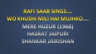 Wo Khushi Mili Hai Mujhko love aall hindi karaoke
