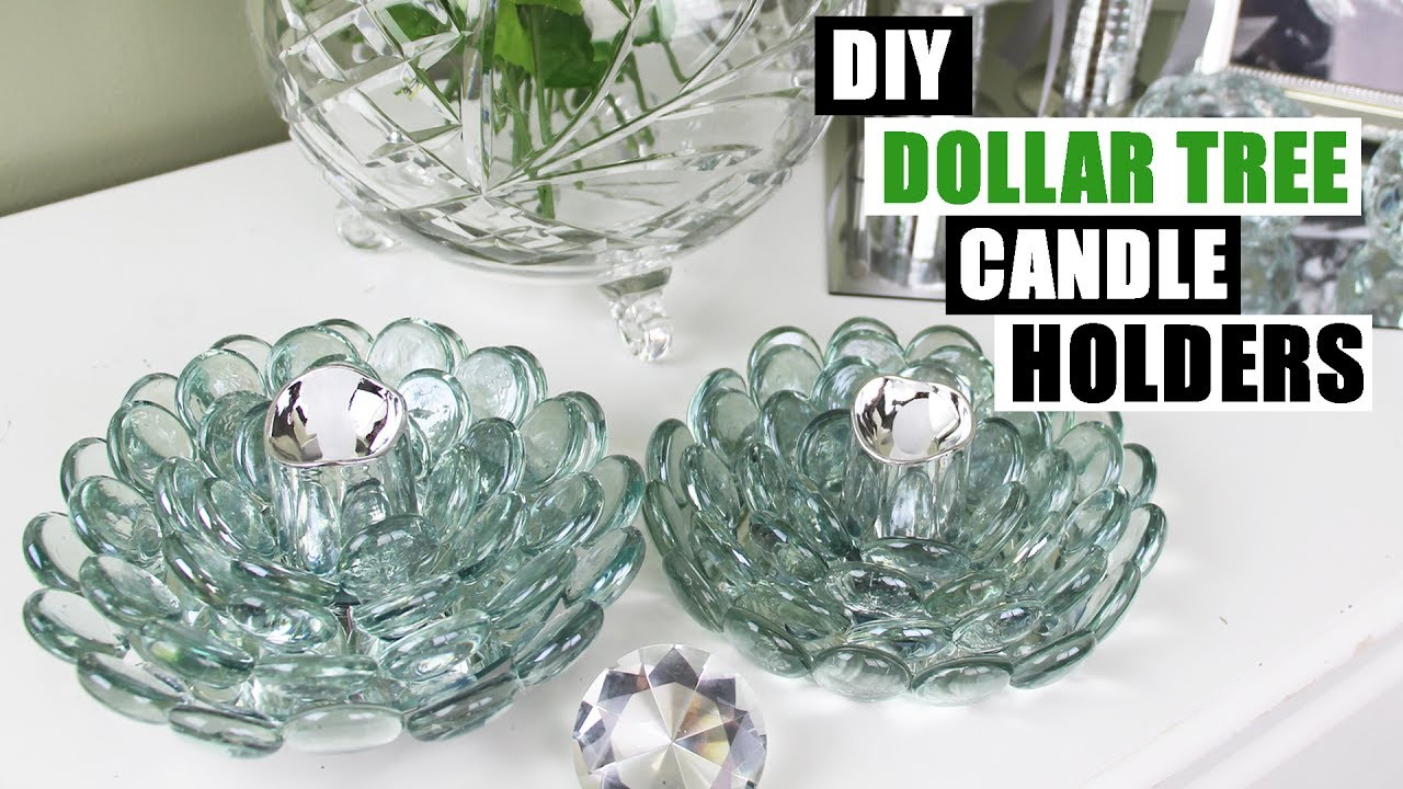 DIY DOLLAR TREE GLAM CANDLE HOLDERS Dollar Store DIY ...