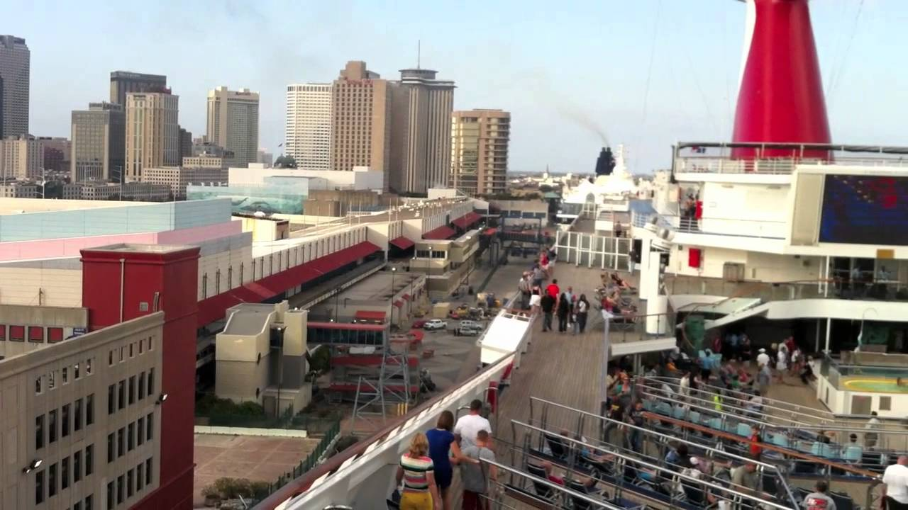 Carnival Conquest Cruise Leaving Port New Orleans YouTube - Cruise ships new orleans
