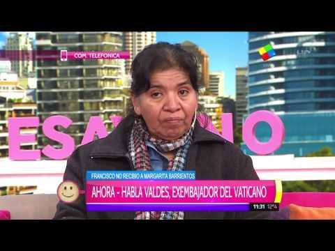 Margarita Barrientos: Fui a conocer al Papa Francisco, pero no me recibió