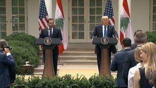 President Donald Trump remarks with Lebanon PM  Saad Hariri