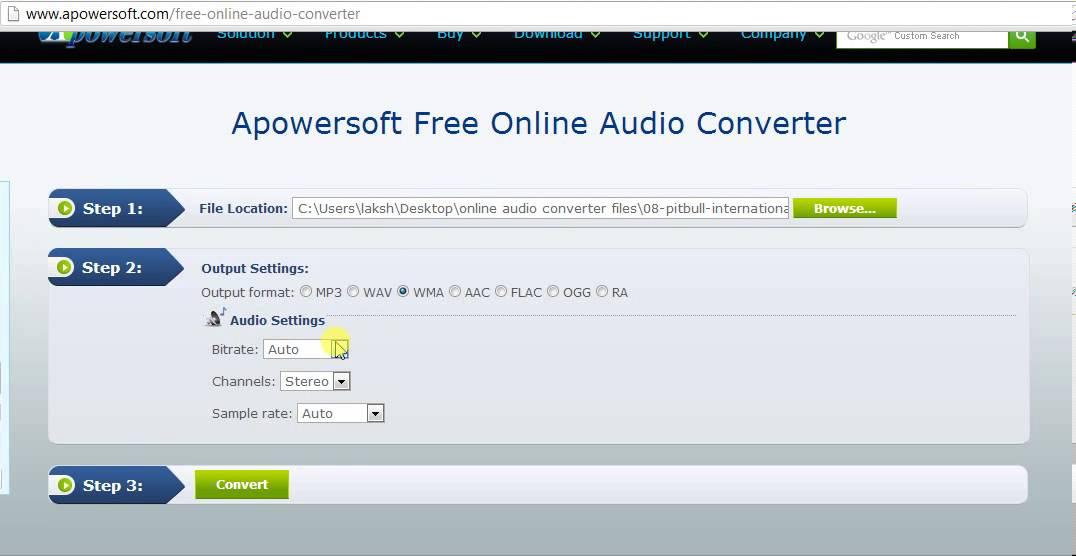 free online audio converter to wav