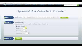Apowersoft free online audio converter - Video Demo