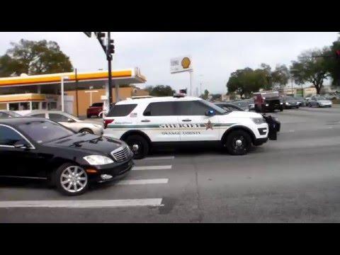 Orange County Sheriff SUV Responding