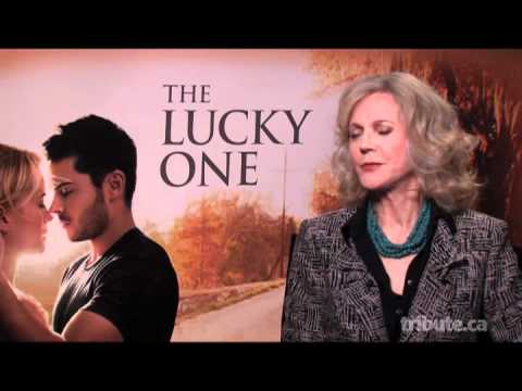 Blythe Danner - The Lucky One Interview with Tribute