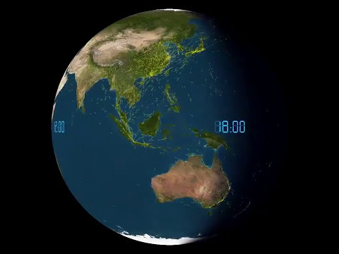This is how Daily world air traffic looks