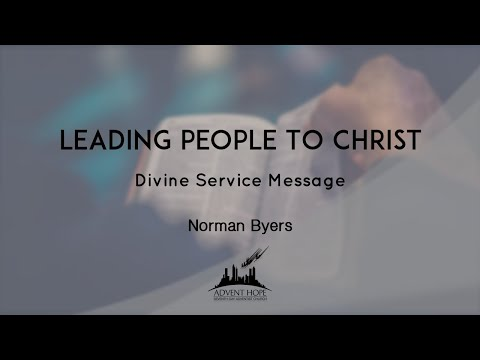 Leading People To Christ Norman Byers