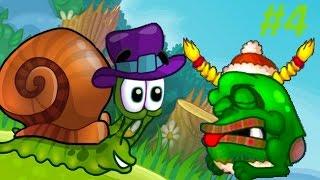 Детская игра про улитку Snail Bob 2 – ЗЛАЯ ЧЕРНАЯ УЛИТКА. Мультик игра для малышей! Часть #4