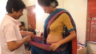 Telugu Actress Wearing saree in Makeup Room | మేకప్ రూమ్ లో చీర మార్చుకుంటున్న హీరోయిన్