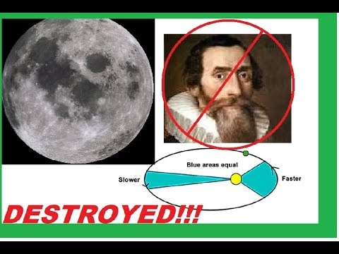 Moon DESTROYS Kepler's 2nd Law - Moon Not Planetary Body.