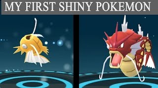 Shiny magikarp evolves into Red Gyarados in Pokemon go 0.59.1 event