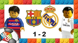 barcelona vs real madrid 1 2 goal piqu benzema ronaldo el clasico 2016 in lego calcio highlights