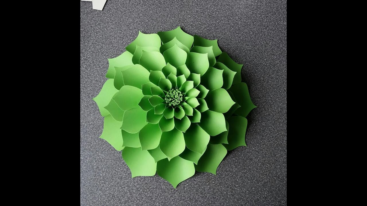How To Make Antonia Giant Paper Flower Youtube
