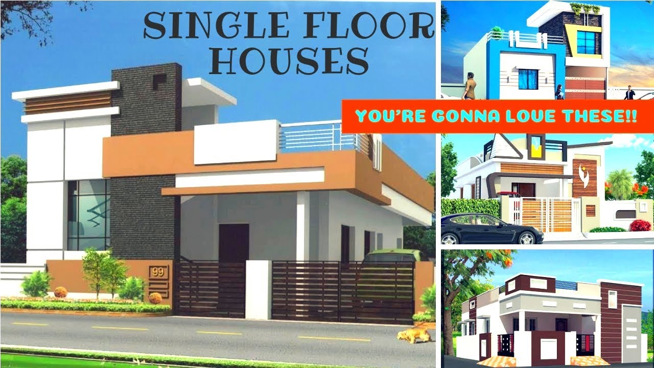 Individual House Front Elevation Designs 2 Bhk Single Floor House Designs 3d Views Plan N Design Youtube