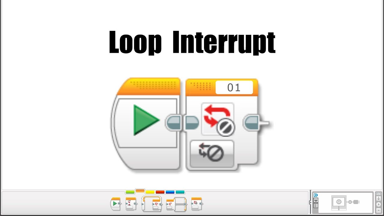 EV3 Programming: The Loop Interrupt Block
