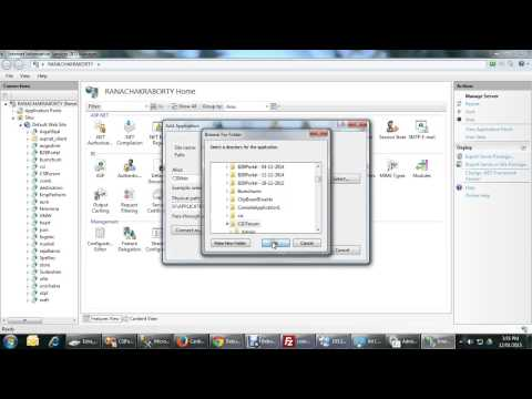 Create virtual directory application in IIS 7