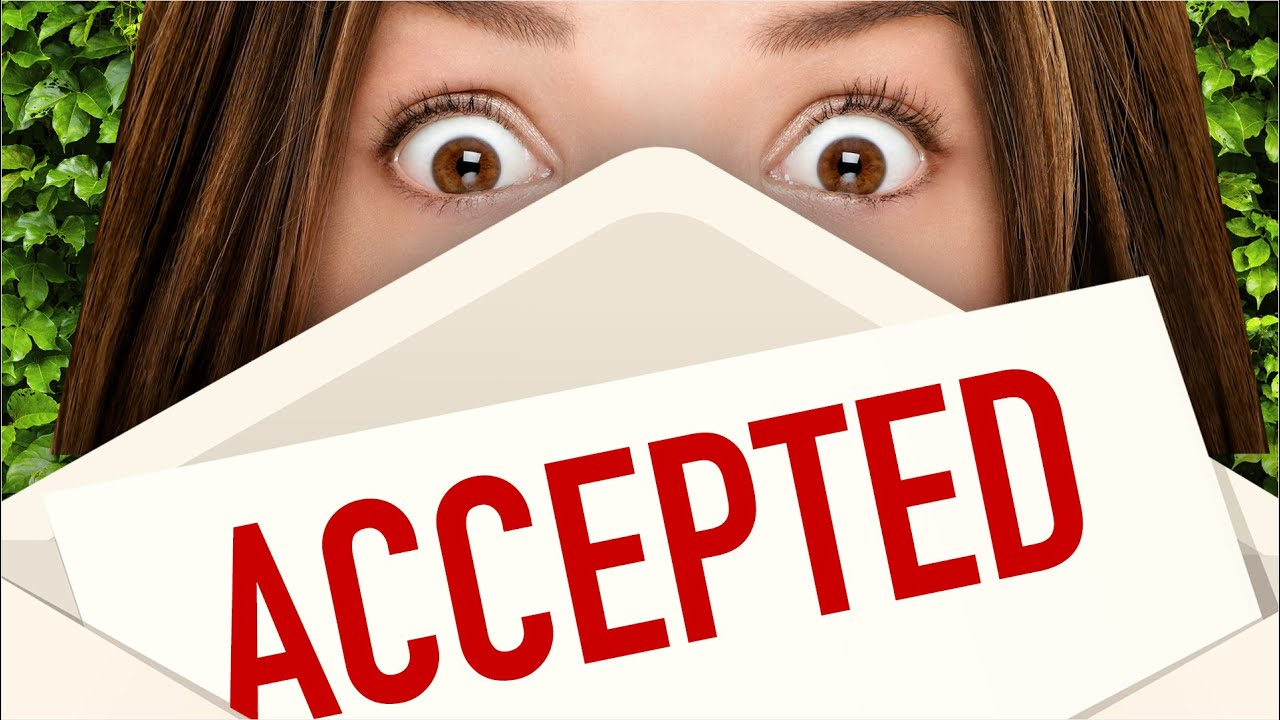 girl receiving acceptance letter