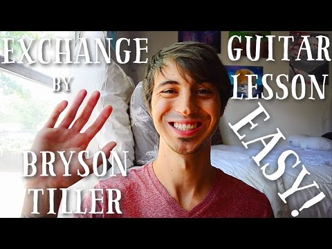 Exchange by Bryson Tiller Guitar Tutorial // Guitar Lesson for Beginners!