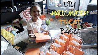MAKING DIY HALLOWEEN CANDY TREAT BAGS!!!!