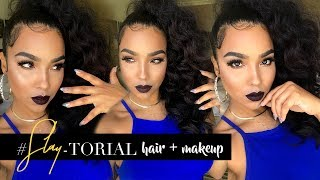 Claws TNT Inspo Makeup and High Ponytail SLAY-Torial