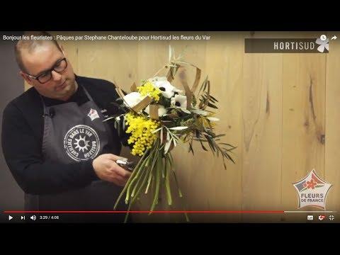Bonjour les fleuristes : Pâques par Stephane Chanteloube pour Hortisud les fleurs du Var