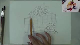 Урок 4 Сладкий акварельный скетч