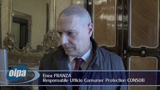 """Convegno """"Educazione Finanziaria"""", intervista a Enea Franza (Ufficio Consumer Protection CONSOB)*"""