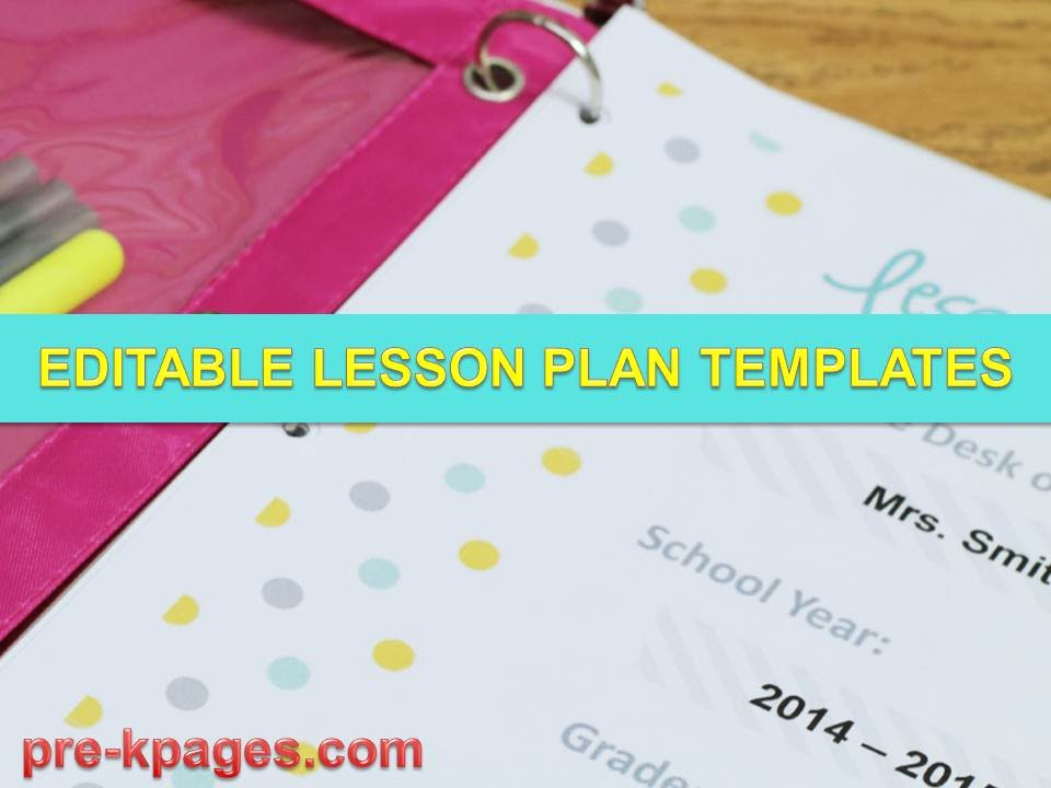 Printable Lesson Plan Templates - Youtube