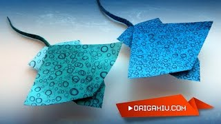 Stingray from origami paper (Toshikazu Kawasaki)