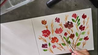 Hand-painted flowers