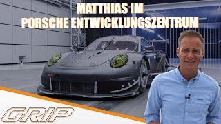 Matthias im Porsche Entwicklungs-Zentrum I GRIP