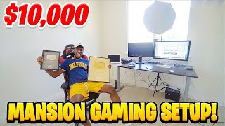 WHY I HAVE BEEN GONE... My NEW $10,000 MANSION GAMING SETUP!
