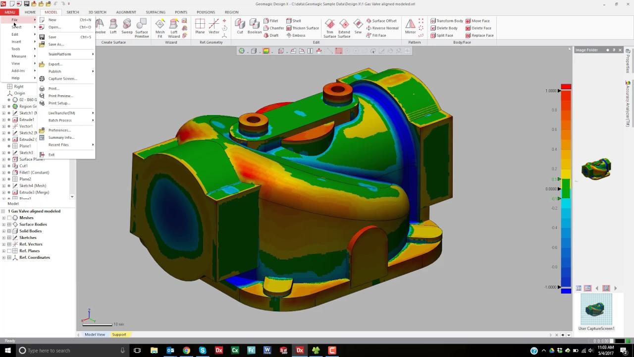 Geomagic Design X - Screen Capture and Color model export