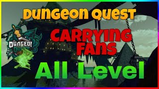 CARRYING FANS LVL 33-114 IN ROBLOX DUNGEON QUEST