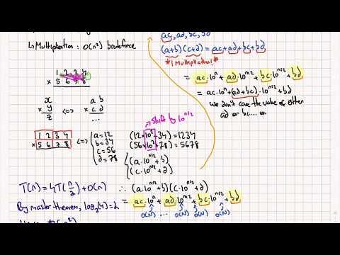 Karatsuba's Divide & Conquer Multiplication Algorithm Tutorial