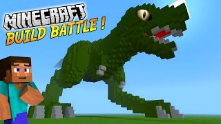 UN IMMENSE T-REX ! | BUILD BATTLE | Minecraft thumbnail