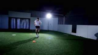 Box soccer drill: how to improve your soccer dribbling. easy 4 cone setup